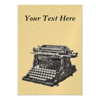 Máquina de escrever antiquado preta antiga do