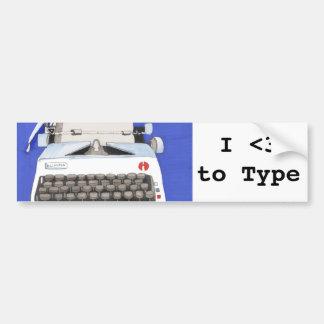 Máquina de escrever clássica adesivos
