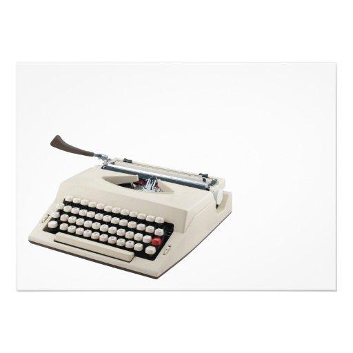Máquina de escrever convites