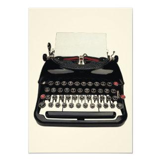 Máquina de escrever convite 12.7 x 17.78cm