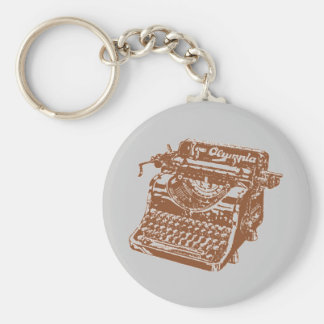 Máquina de escrever de Brown do vintage Chaveiro