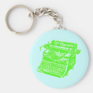 Máquina de escrever do limão do vintage chaveiros