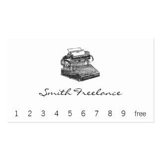 Máquina de escrever do no. 2 de Smith primeiro Cartão De Visita
