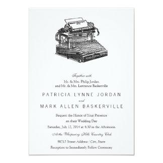 Máquina de escrever do no. 2 de Smith primeiro Convites Personalizados