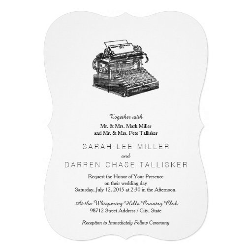 Máquina de escrever do no. 2 de Smith primeiro Convites