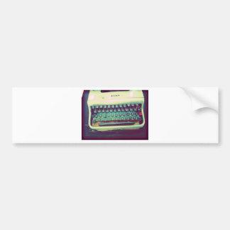 Máquina de escrever do vintage adesivos