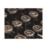 Máquina de escrever impressão em canvas