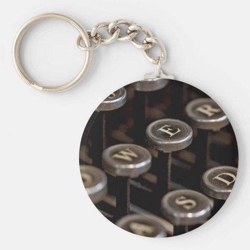 Máquina de escrever chaveiros