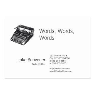 Máquina de escrever retro silenciosa de luxe cartoes de visita