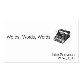 Máquina de escrever retro silenciosa de luxe cartoes de visitas