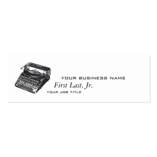 Máquina de escrever silenciosa de luxe modelo cartão de visita