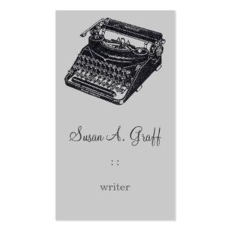 Máquina de escrever silenciosa de luxe cartoes de visita