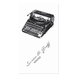 Máquina de escrever silenciosa de luxe cartao de visita