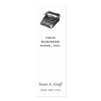 Máquina de escrever silenciosa de luxe modelo cartões de visita