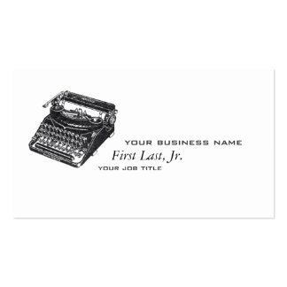 Máquina de escrever silenciosa de luxe cartoes de visitas