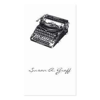 Máquina de escrever silenciosa de luxe cartões de visita