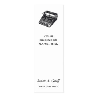 Máquina de escrever silenciosa de luxe cartão de visita skinny