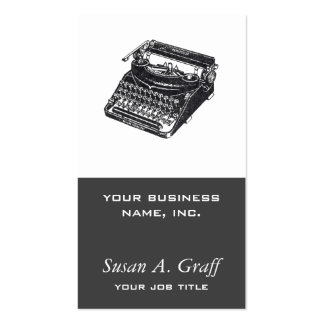 Máquina de escrever silenciosa de luxe cartão de visita