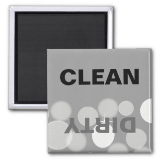 Máquina de lavar louça limpa/suja de Bokeh Ímã Quadrado