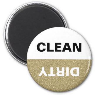Máquina de lavar louça limpa/suja do brilho do ímã redondo 5.08cm