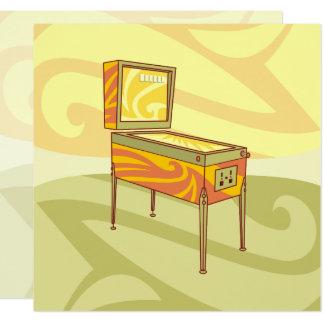 Máquina de Pinball Convite Quadrado 13.35 X 13.35cm