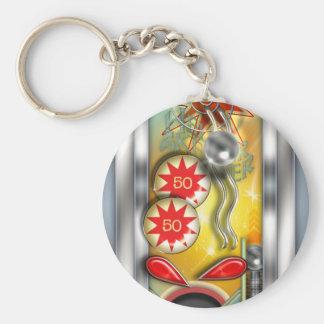 Máquina de Pinball retro engraçada Chaveiro
