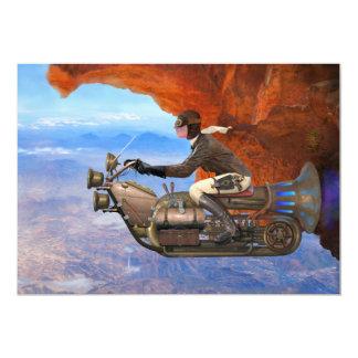 Máquina de vôo de Steampunk Convite 12.7 X 17.78cm
