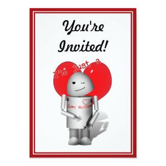 Máquina do amor Robo-x9 (com coração) Convites