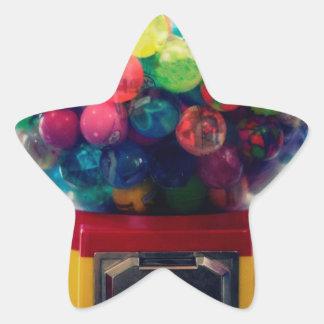 Máquina do brinquedo do bubblegum dos doces retro adesito estrela