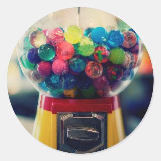 Máquina do brinquedo do bubblegum dos doces retro adesivo