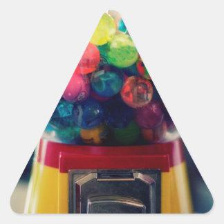 Máquina do brinquedo do bubblegum dos doces retro adesivo triangular