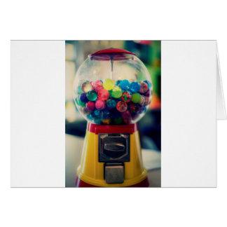 Máquina do brinquedo do bubblegum dos doces retro cartão comemorativo