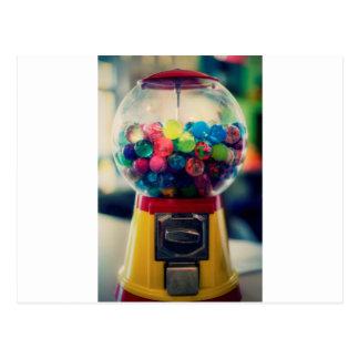 Máquina do brinquedo do bubblegum dos doces retro cartão postal