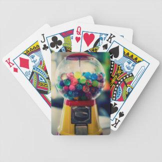 Máquina do brinquedo do bubblegum dos doces retro jogo de baralho