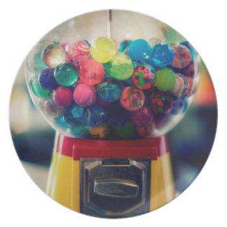 Máquina do brinquedo do bubblegum dos doces retro louças de jantar
