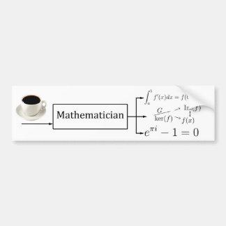 Máquina do matemático adesivo