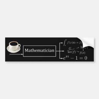 Máquina do matemático (preto) adesivos