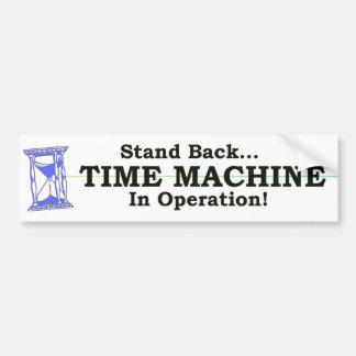 Máquina do tempo adesivo para carro