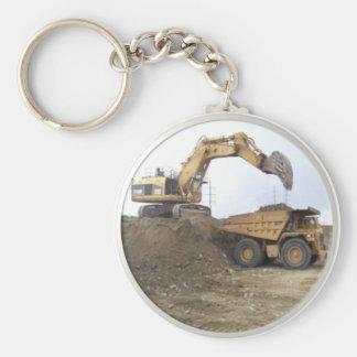 Máquina escavadora/camião basculante enormes chaveiros