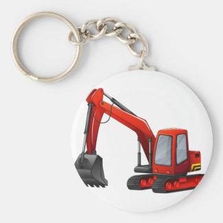 Máquina escavadora chaveiro