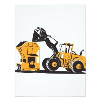 Máquina escavadora do escavador do carregador da convites