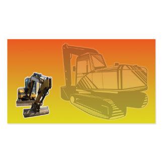 Máquina escavadora do escavador mecânico da constr cartão de visita