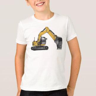 Máquina escavadora grande de Caterpillar do menino Camiseta