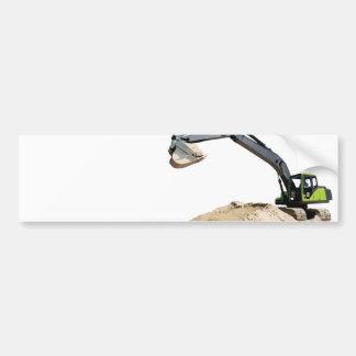 Máquina escavadora verde grande impressionante #4  adesivo
