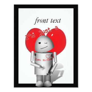 Máquina Robo-x9 w/Heart do amor Convite Personalizados