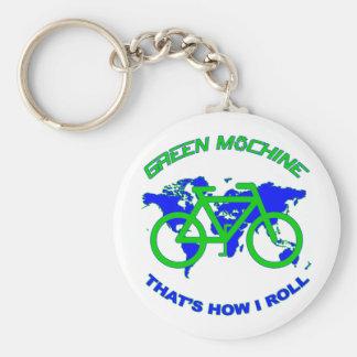 Máquina verde chaveiro