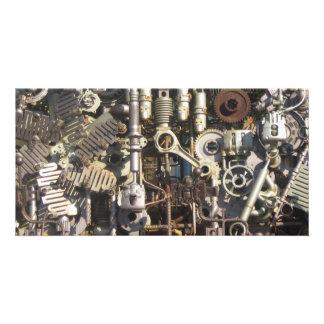 Maquinaria de Steampunk Cartão Com Foto