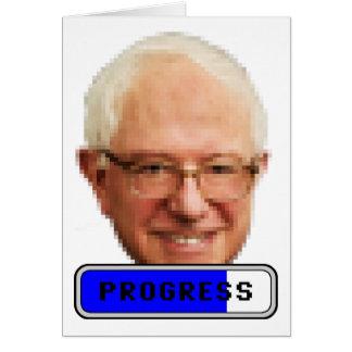 Máquinas de lixar de Pixelated Bernie - PROGRESSO Cartão
