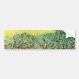 Máquinas desbastadoras verde-oliva em um bosque po adesivos