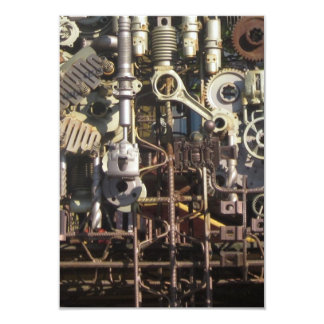 Máquinas mecânicas da maquinaria de Steampunk Convite 8.89 X 12.7cm